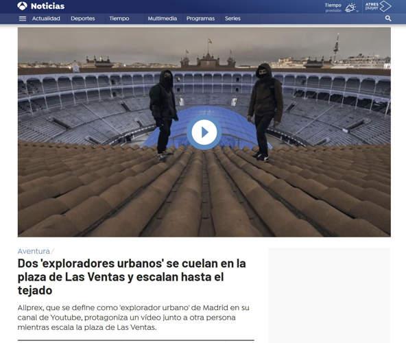 antena tres noticias exploración urbana