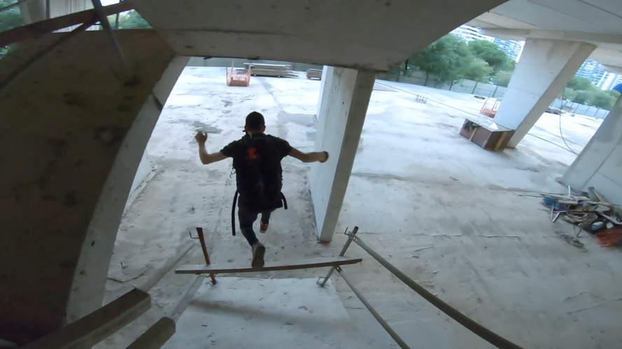 explorador urbano de valencia escapando de la policía
