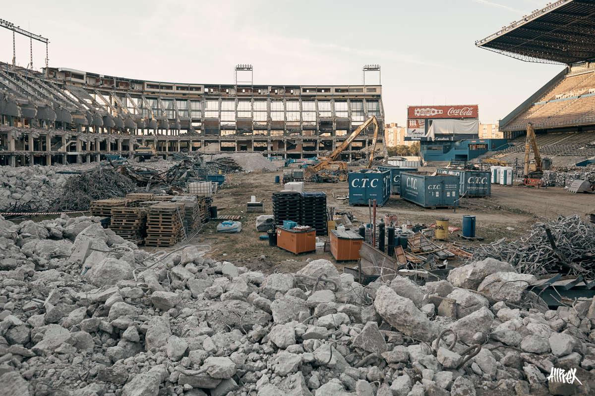 demolicion del estadio vicente calderon