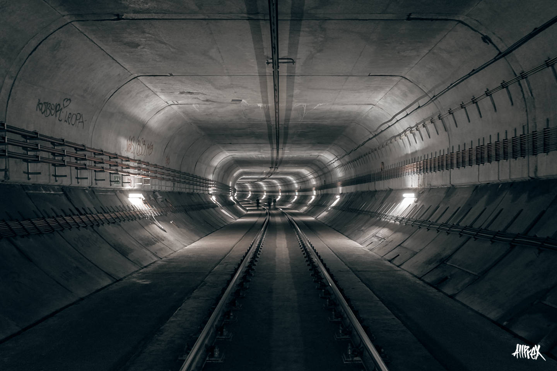 túnel de metro bifurcación