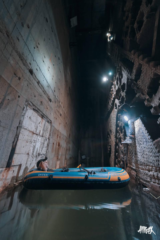 tuneladora abandonada barcelona urbex