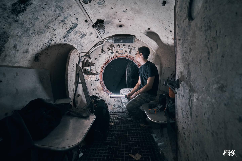 interior tuneladora abandonada urbex