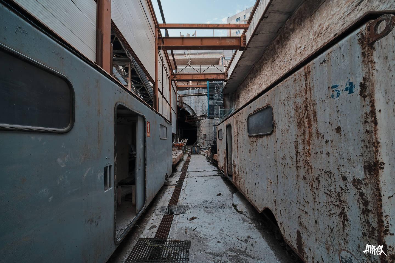 trenes antiguos abandonados