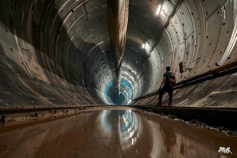 metro inundado