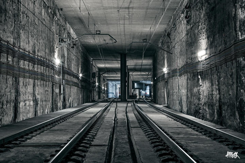 bifurcación de túnel de cercanías Madrid