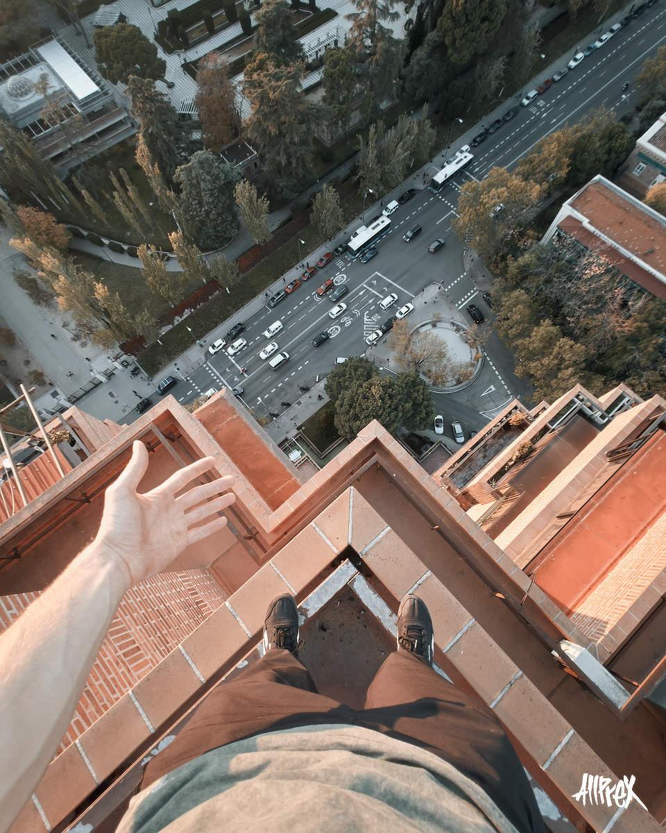 pov azotea de Madrid Retiro