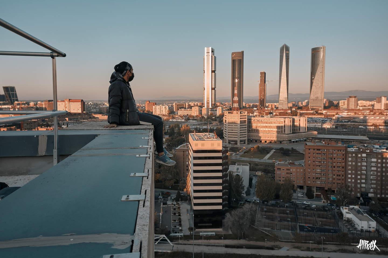azotea con vistas a las 4 torres de Madrid
